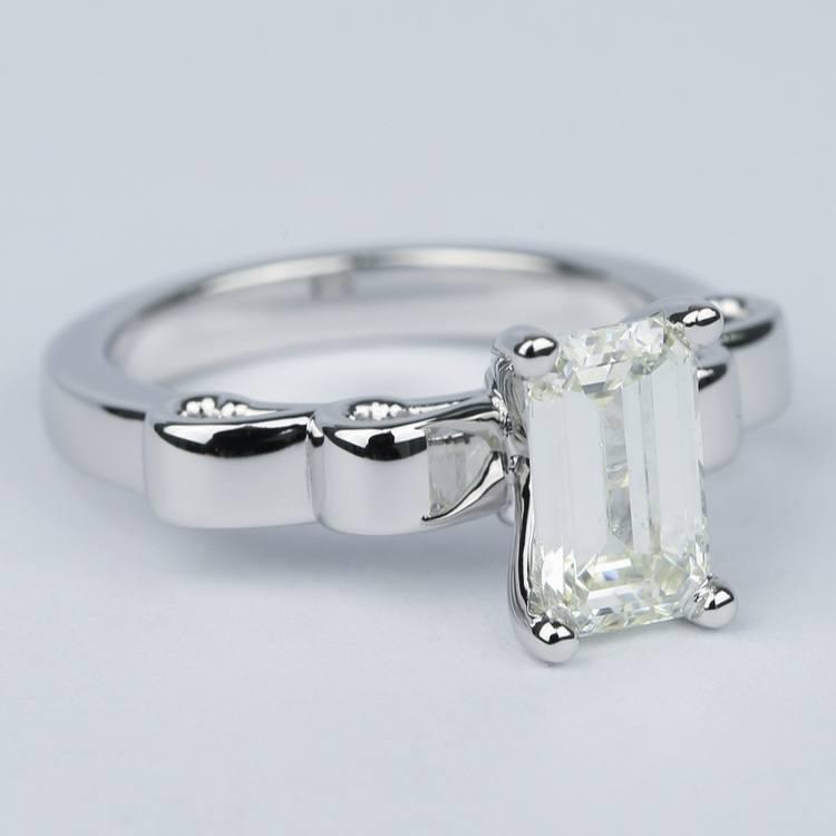 Cinderella Ribbon Emerald Diamond Engagement Ring (1.50 Carat) angle 3