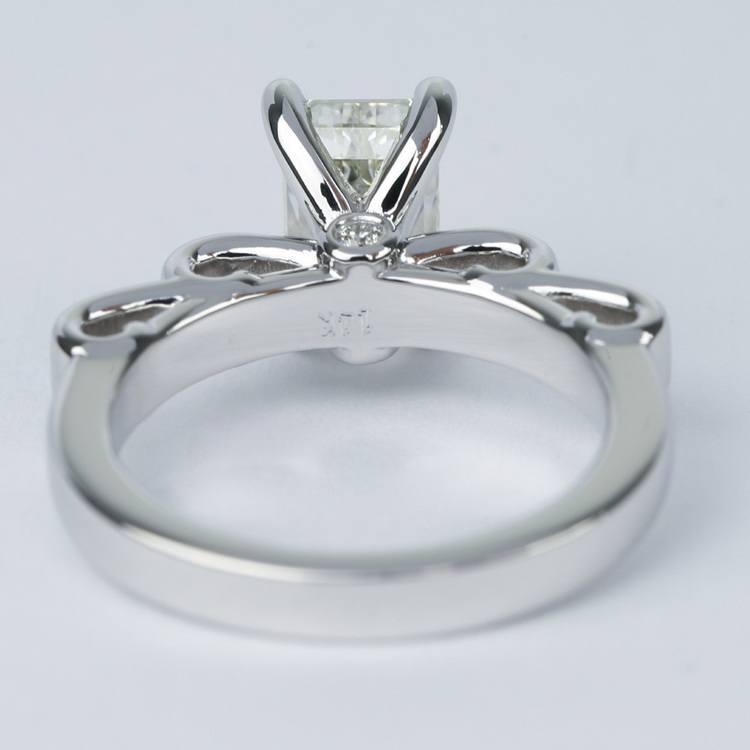 Cinderella Ribbon Emerald Diamond Engagement Ring (1.50 Carat) angle 4