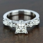 Cinderella Ribbon 1 Carat Princess Diamond Engagement Ring - small