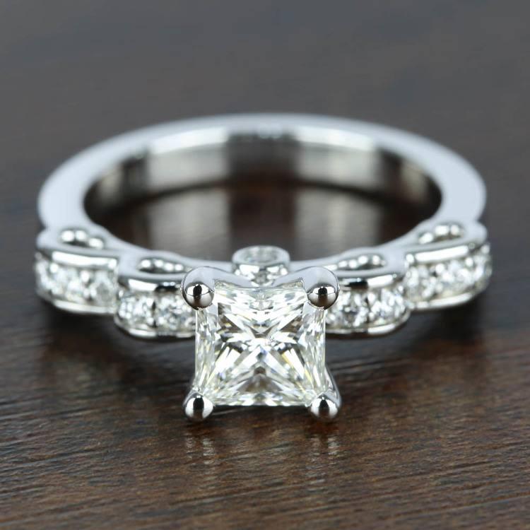 Cinderella Ribbon 1 Carat Princess Diamond Engagement Ring
