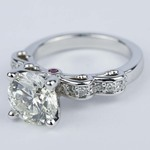 Cinderella Diamond Engagement Ring with Surprise Ruby (2.72 ct.) - small angle 2