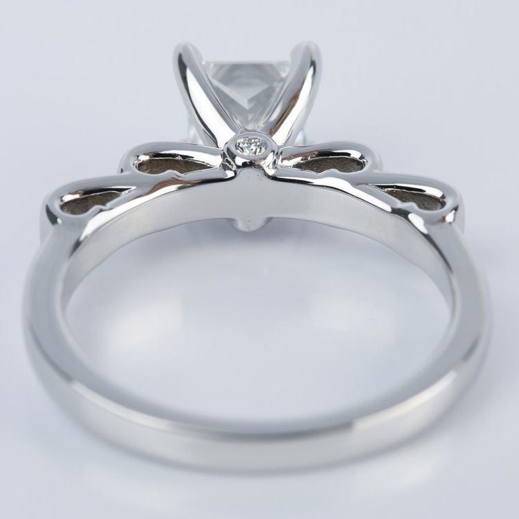 Cinderella Ribbon Engagement Ring with Princess Diamond angle 4