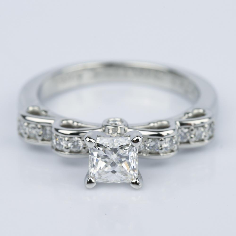 Cinderella Ribbon Princess Diamond Engagement Ring 0 80 Ct