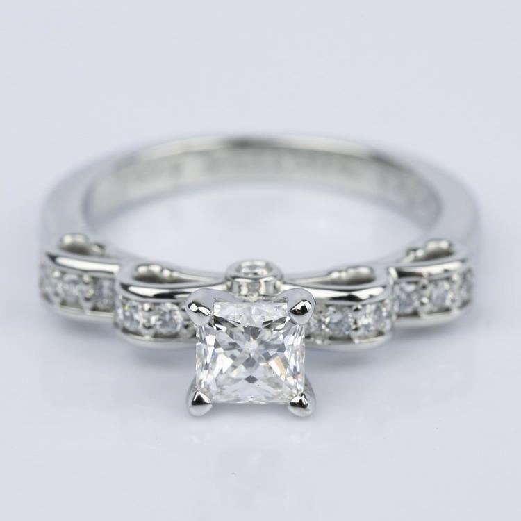 Cinderella Ribbon Princess Diamond Engagement Ring (0.80 ct.)