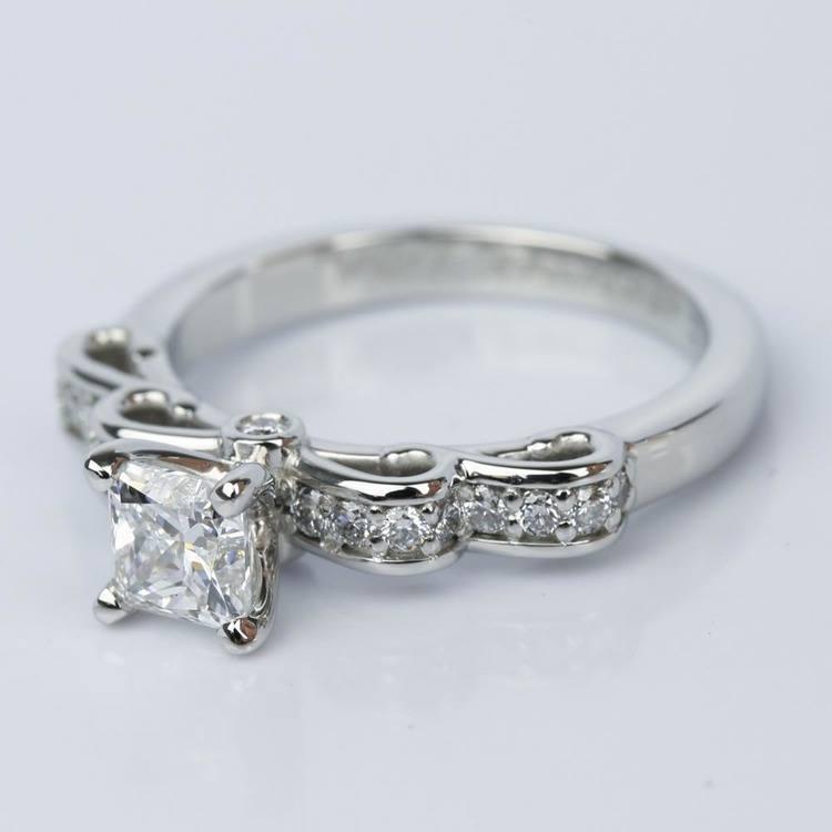 Cinderella Ribbon Princess Diamond Engagement Ring (0.80 ct.) angle 2
