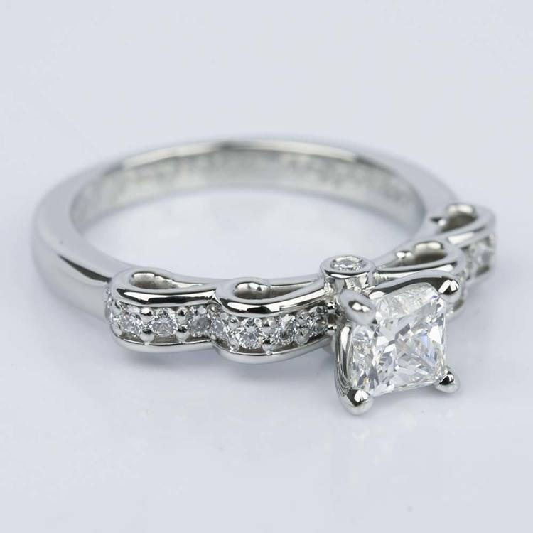 Cinderella Ribbon Princess Diamond Engagement Ring (0.80 ct.) angle 3