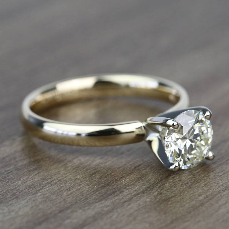 Classic 1.20 Carat Round Solitaire Diamond Engagement Ring angle 3