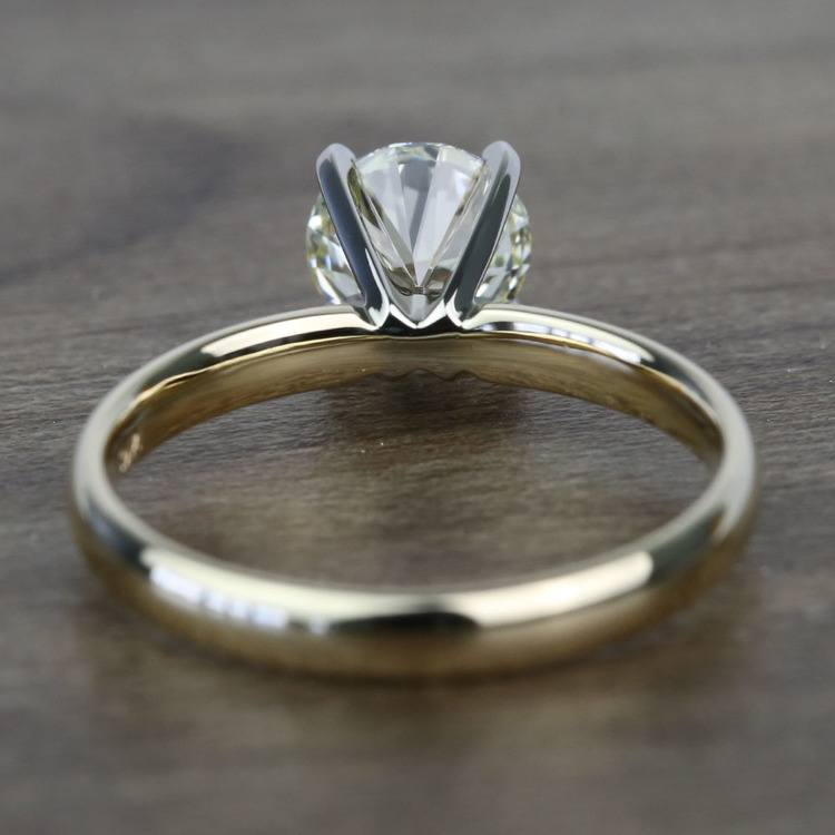 Classic 1.20 Carat Round Solitaire Diamond Engagement Ring angle 4
