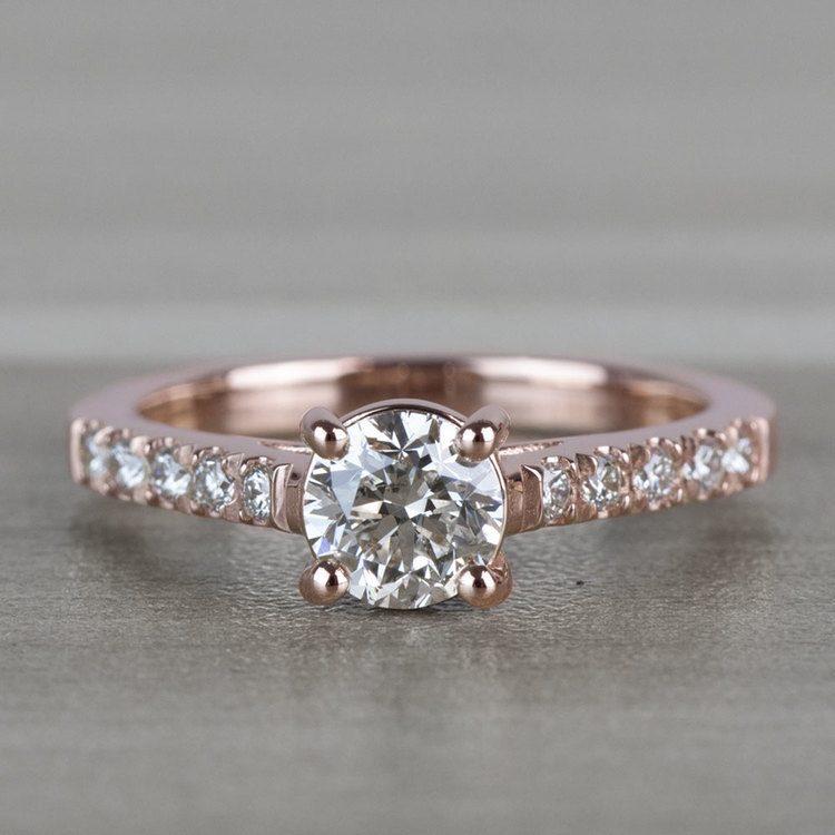 Classic 1 Carat Rose Gold Trellis Diamond Engagement Ring