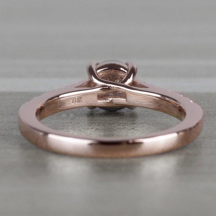 Classic 1 Carat Rose Gold Trellis Diamond Engagement Ring  angle 4
