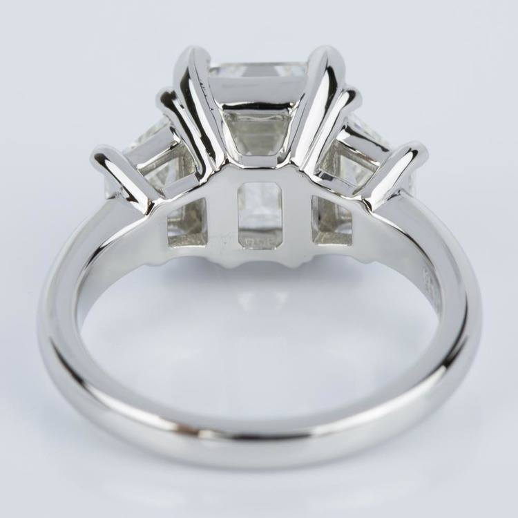 Classic Emerald Diamond Ring with Accent Trapezoids (3.00 ct.) angle 4