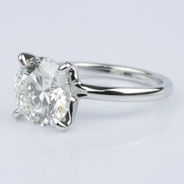 Classic Platinum Solitaire Engagement Ring (2.30 ct.) angle 2