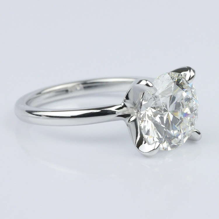 Classic Platinum Solitaire Engagement Ring (2.30 ct.) angle 3
