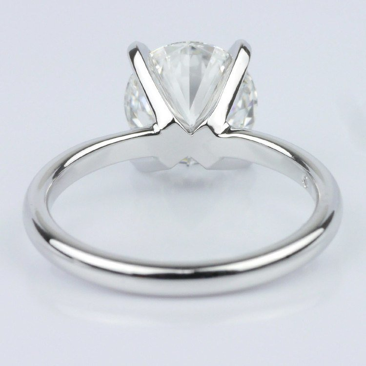 Classic Platinum Solitaire Engagement Ring (2.30 ct.) angle 4
