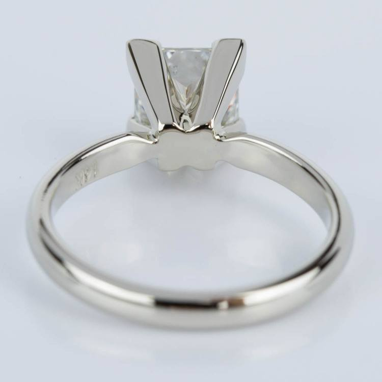 Classic Princess Diamond Engagement Ring in White Gold (1.26 ct.) angle 4
