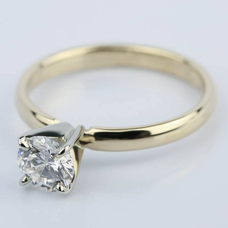 Classic Round Diamond Solitaire Engagement Ring (3/4 ct.) angle 2