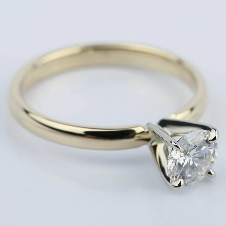 Classic Round Diamond Solitaire Engagement Ring (3/4 ct.) angle 3