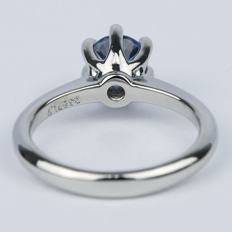Classic Six-Prong Sapphire Gemstone Engagement Ring angle 4