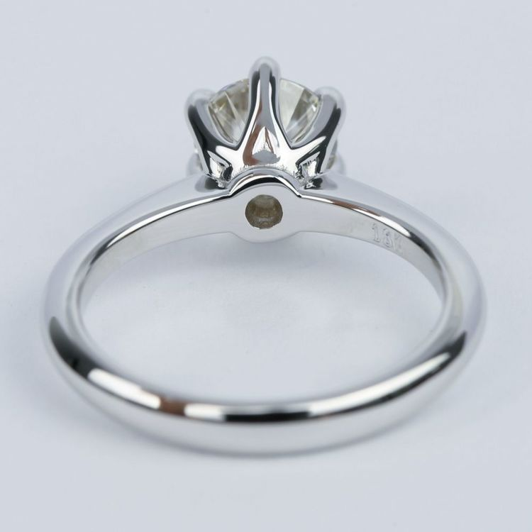 1 Carat Round Diamond Solitaire Engagement Ring angle 4