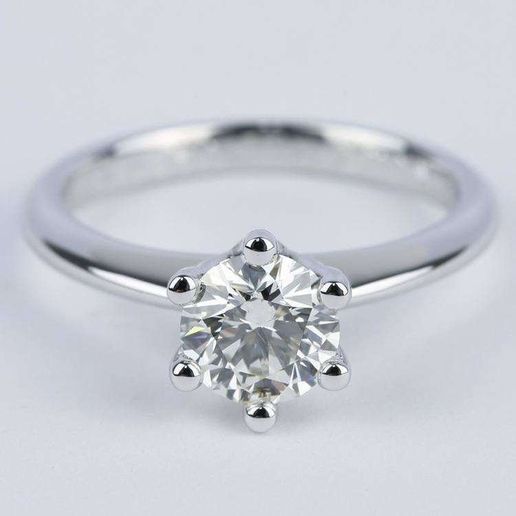 Six-Prong Knife Edge Solitaire Diamond Engagement Ring (1.33 ct.)