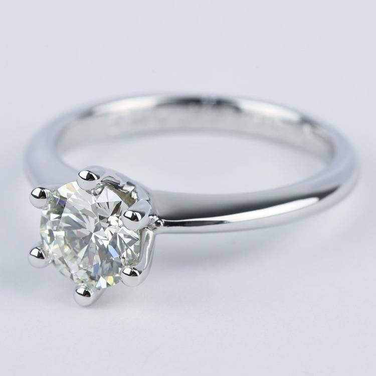 Six-Prong Knife Edge Solitaire Diamond Engagement Ring (1.33 ct.) angle 2