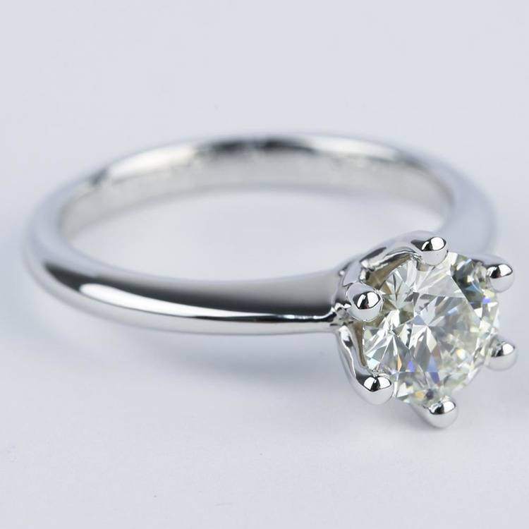 Six-Prong Knife Edge Solitaire Diamond Engagement Ring (1.33 ct.) angle 3