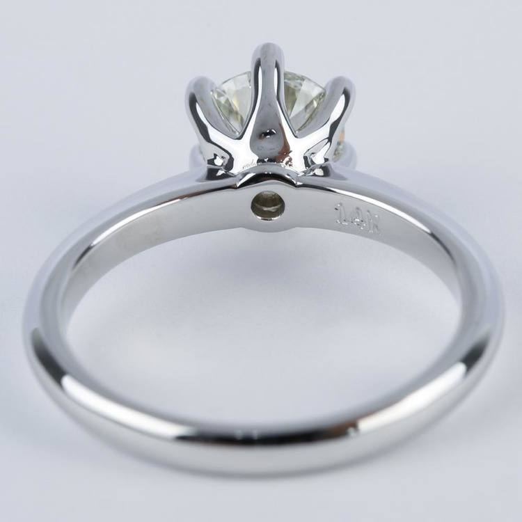 Six-Prong Knife Edge Solitaire Diamond Engagement Ring (1.33 ct.) angle 4