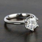 Classic D Color Diamond Engagement Ring (1.66 ct.) - small angle 3