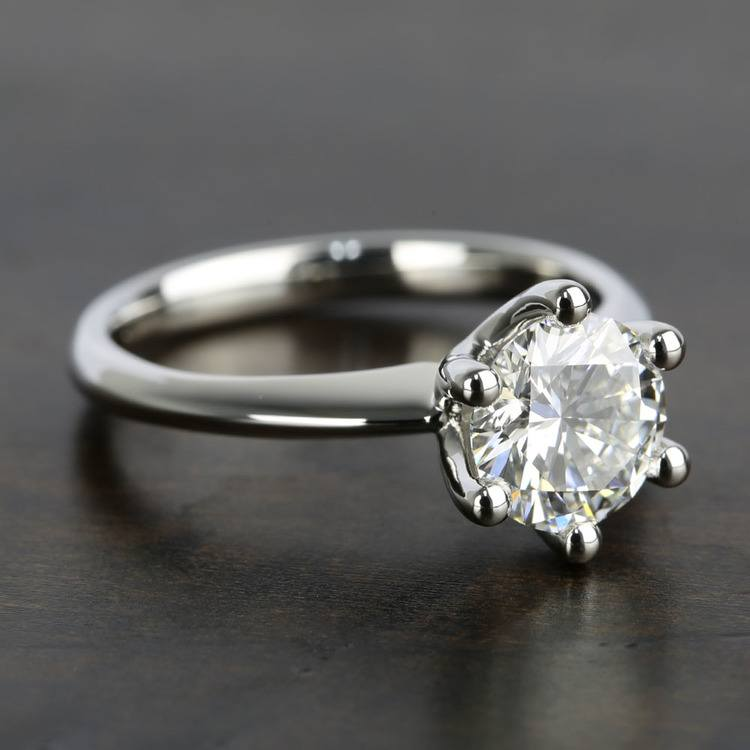 Classic D Color Diamond Engagement Ring (1.66 ct.) angle 3