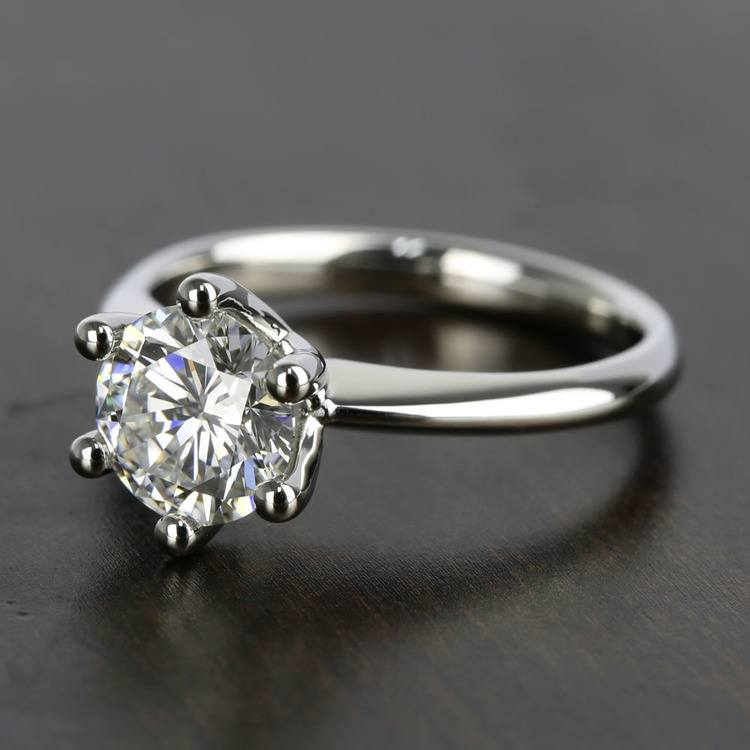 Classic D Color Diamond Engagement Ring (1.66 ct.) angle 2