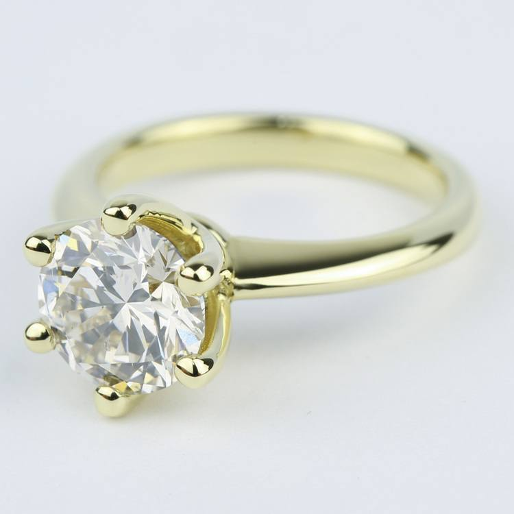 Classic Engagement Ring with M Color Diamond (2 Carat) angle 2