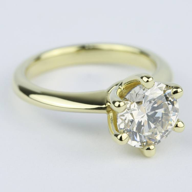 Classic Engagement Ring with M Color Diamond (2 Carat) angle 3