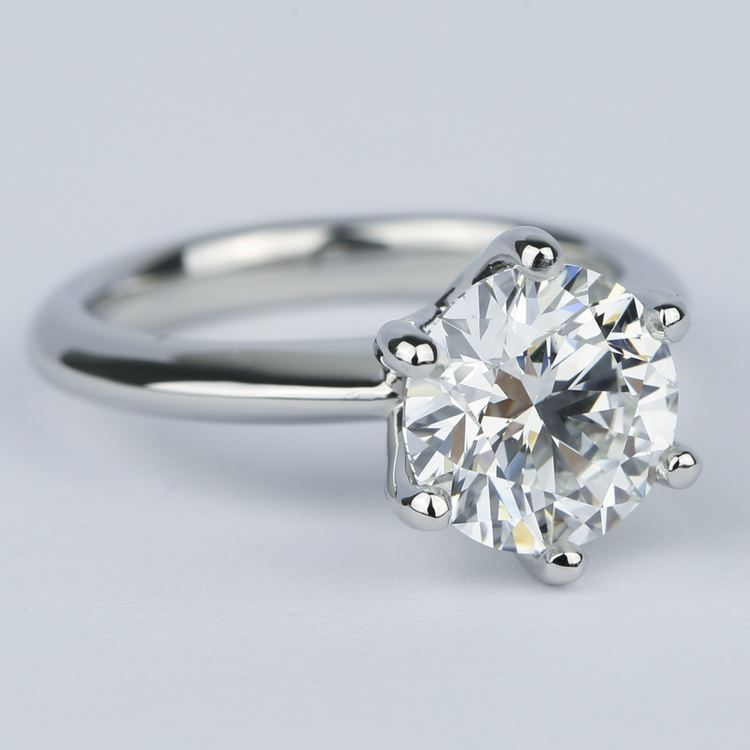 2.50 Carat Colorless Round Diamond Engagement Ring angle 3