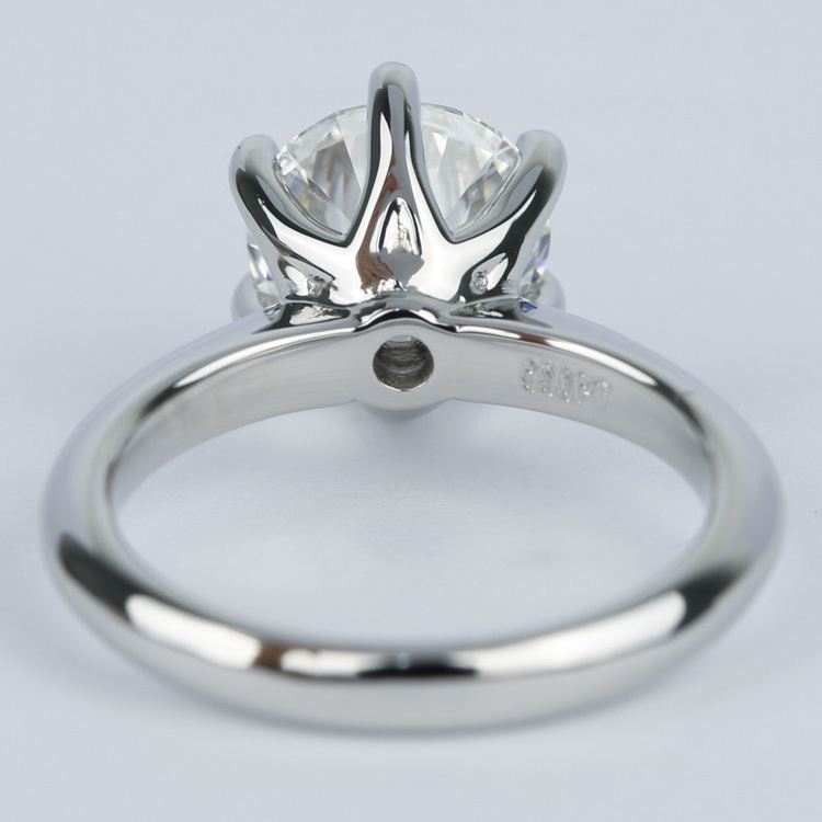 2.50 Carat Colorless Round Diamond Engagement Ring angle 4