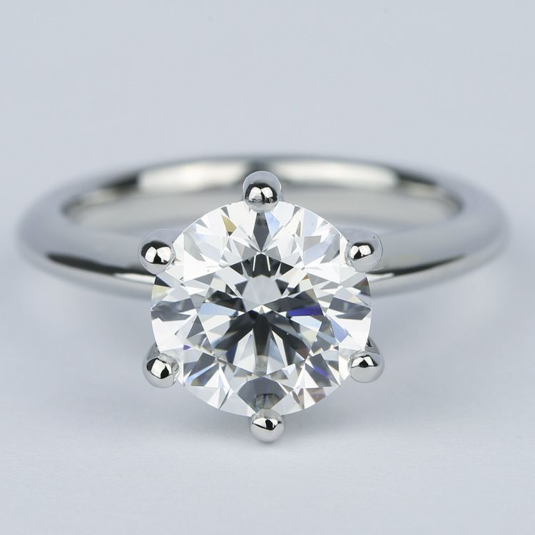 2.50 Carat Colorless Round Diamond Engagement Ring