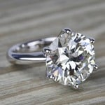 7 Carat Round Diamond Solitaire Engagement Ring - small angle 3