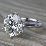 7 Carat Round Diamond Solitaire Engagement Ring - small angle 2