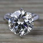 7 Carat Round Diamond Solitaire Engagement Ring - small