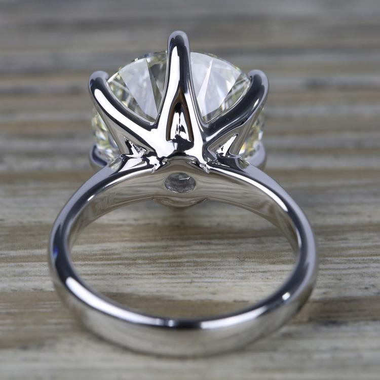 7 Carat Round Diamond Solitaire Engagement Ring angle 4