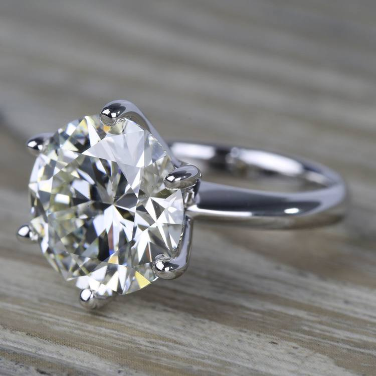 7 Carat Round Diamond Solitaire Engagement Ring