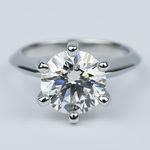 Classic Six-Prong Solitaire Diamond Engagement Ring (3.40 ct.) - small