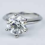Classic Six-Prong Solitaire Diamond Engagement Ring (3.40 ct.) - small angle 2