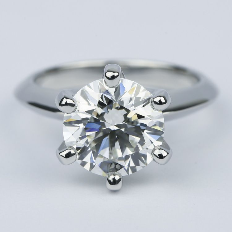 Classic Six-Prong Solitaire Diamond Engagement Ring (3.40 ct.)