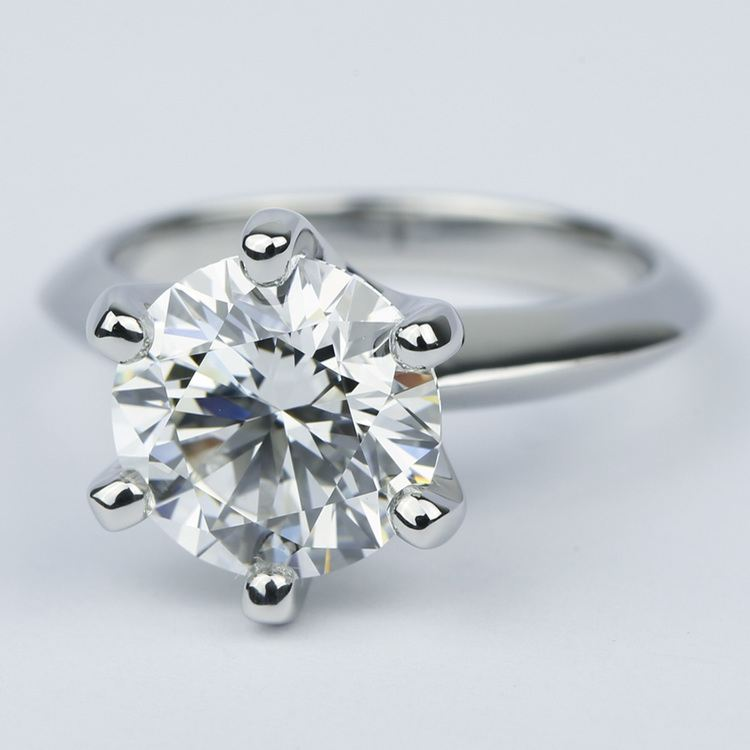 Classic Six-Prong Solitaire Diamond Engagement Ring (3.40 Ct