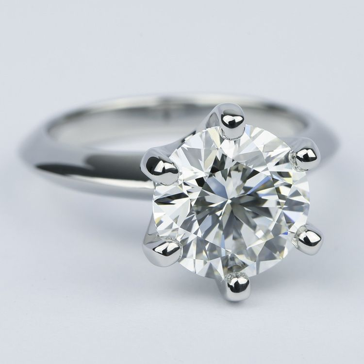 Classic Six-Prong Solitaire Diamond Engagement Ring (3.40 ct.) angle 3