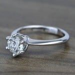 Classic Six Prong Solitaire Round Diamond Engagement Ring (0.92 Carat) - small angle 2