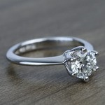 Classic Six Prong Solitaire Round Diamond Engagement Ring (0.92 Carat) - small angle 3