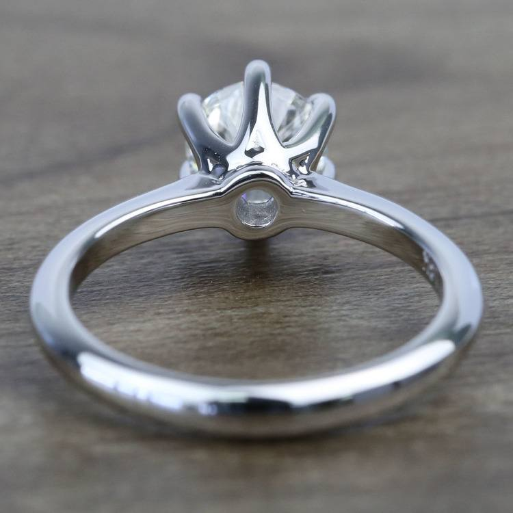 Classic Six Prong Solitaire Round Diamond Engagement Ring (0.92 Carat) angle 4