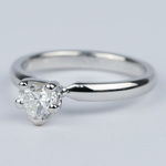 Colorless Solitaire Heart Diamond Engagement Ring  - small angle 2