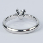 Colorless Solitaire Heart Diamond Engagement Ring  - small angle 4